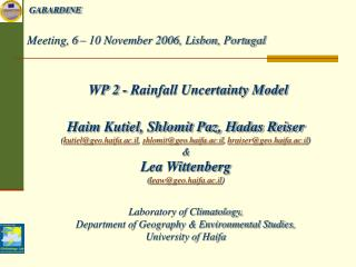 Meeting, 6 – 10 November 2006, Lisbon, Portugal