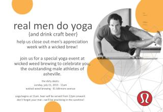 real men do yoga {and drink craft  beer}