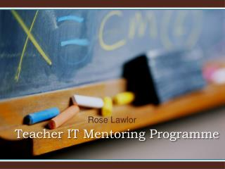 Teacher IT Mentoring Programme