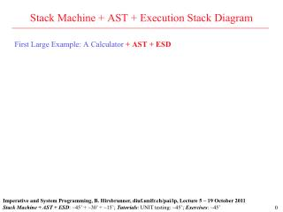 Stack Machine + AST + Execution Stack Diagram