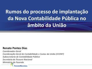 Rumos do processo de implantação da Nova Contabilidade Pública no âmbito da União