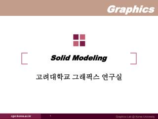 Solid Modeling