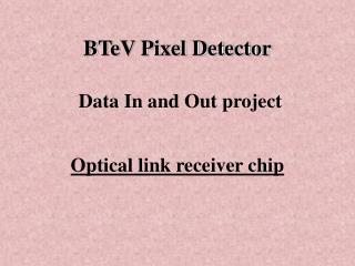 BTeV Pixel Detector