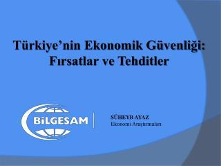 Türkiye'nin Ekonomik Güvenliği:  Fırsatlar ve Tehditler