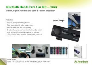 Bluetooth Hands Free Car Kit –  CK10B