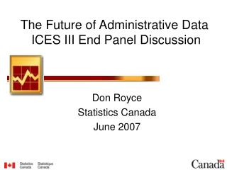The Future of Administrative Data   ICES III End Panel Discussion