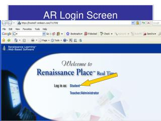 AR Login Screen