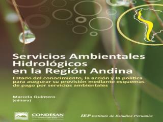 Servicios Hidrológicos en la Región Andina