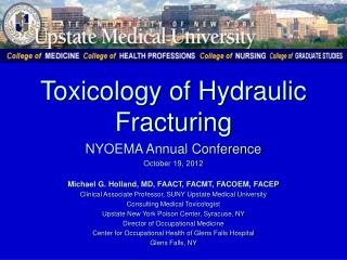 Toxicology of Hydraulic Fracturing