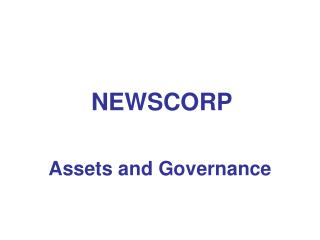Assets and Governance