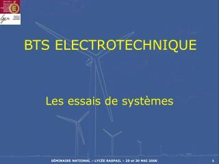 BTS ELECTROTECHNIQUE