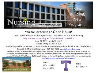 New Building, New Program…