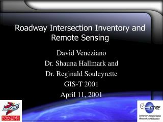 Roadway Intersection Inventory and Remote Sensing
