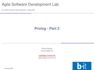 Prolog - Part 2