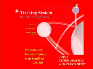 TOPIC:  SYSTEM ANALYSIS;  A HASSLE OR NEED