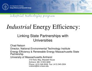 Industrial Energy Efficiency: