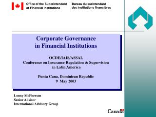 Lonny McPherson Senior Advisor  International Advisory Group