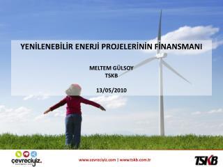 YENİLENEBİLİR ENERJİ PROJELERİNİN FİNANSMANI MELTEM GÜLSOY TSKB 13/05/2010
