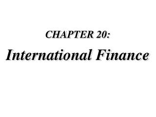 CHAPTER 20: International Finance