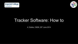 Tracker Software: How to