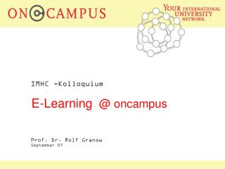 E-Learning   @ oncampus