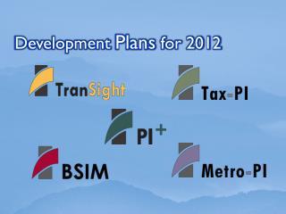Development  Plans  for 2012