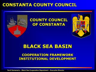 BLACK SEA BASIN COOPERATION FRAMEWORK  INSTITUTIONAL DEVELOPMENT