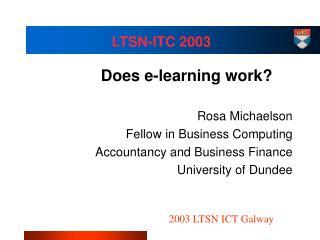 LTSN-ITC 2003