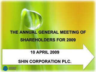 The Annual General Meeting of Shareholders for 2009