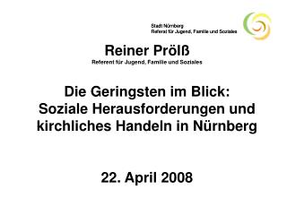 Stadt Nürnberg Referat für Jugend, Familie und Soziales