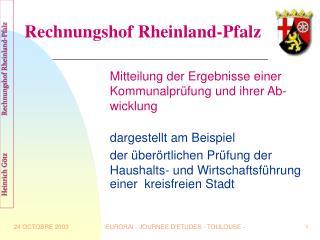 Rechnungshof Rheinland-Pfalz