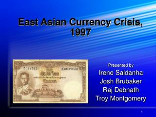 East Asian Currency Crisis,  1997