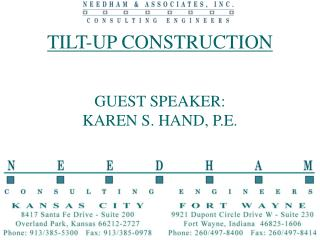 TILT-UP CONSTRUCTION