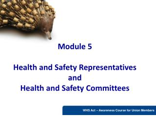 Module 5  Health and Safety Representatives and  Health and Safety Committees