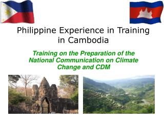 Philippine Experience in Training Experts in Cambodia