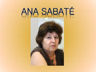 Ana sabaté