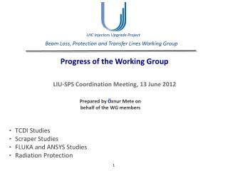 Beam Loss, Protection and Transfer Lines Working Group