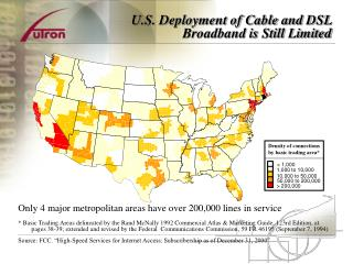 U.S. Deployment of Cable and DSL Broadband is Still Limited