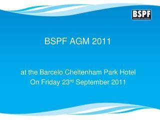 BSPF AGM 2011