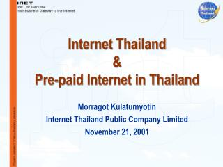 Internet Thailand  &  Pre-paid Internet in Thailand