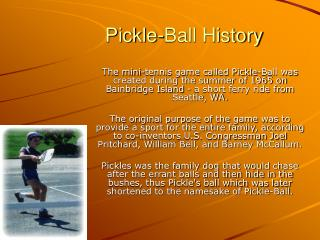 Pickle-Ball History