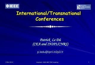 International/Transnational   Conferences
