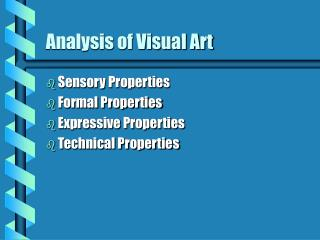 Analysis of Visual Art