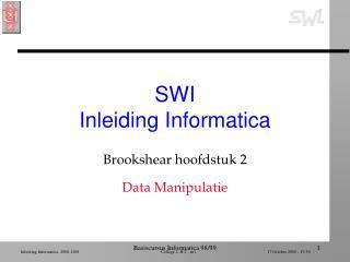 SWI  Inleiding Informatica