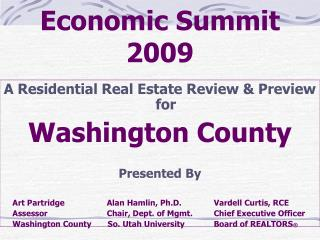 Economic Summit 2009
