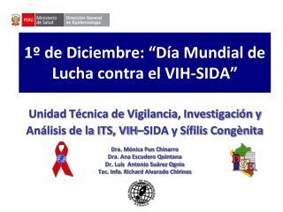 1  de Diciembre:  D a Mundial de Lucha contra el VIH-SIDA