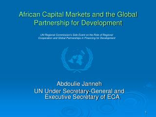 African Capital Markets and the Global Partnership for Development
