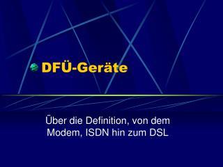 DFÜ-Geräte