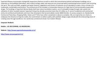 Supertech Renesa, 9911594948, Renesa Sector 118 Noida