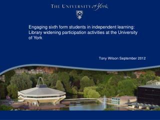Tony Wilson September 2012